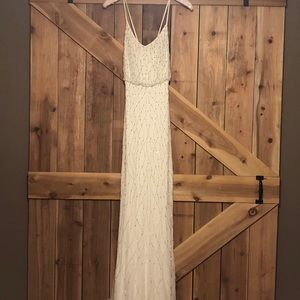 NWT 💎 Beaded Adrianna Papell Long Halter Dress